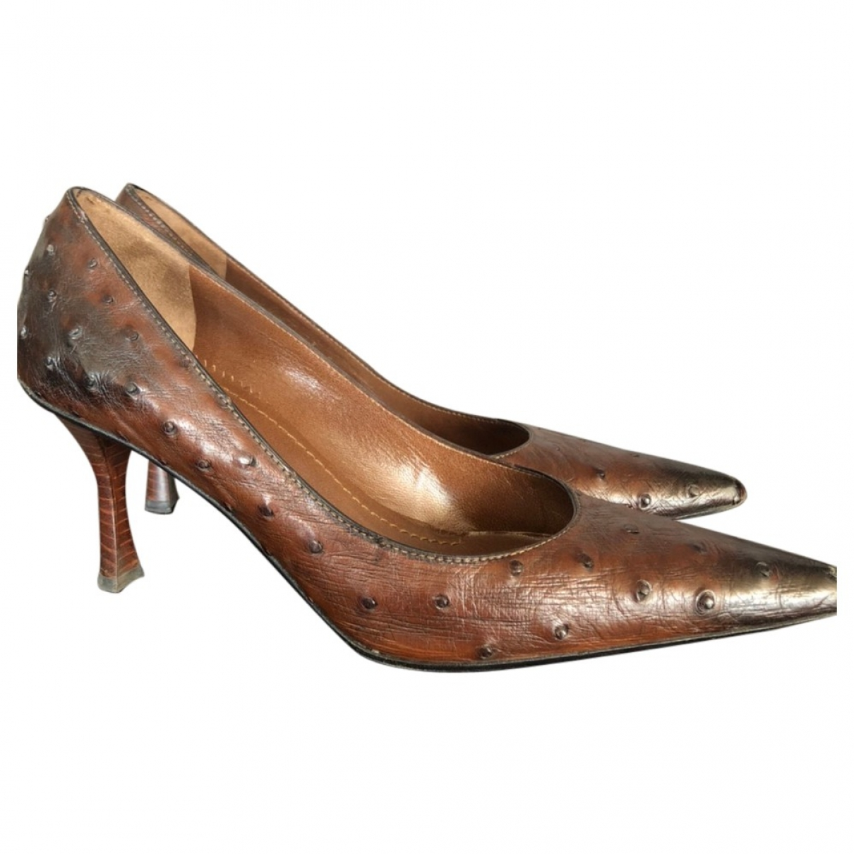 Gucci \N Brown Ostrich Heels for Women 39 IT