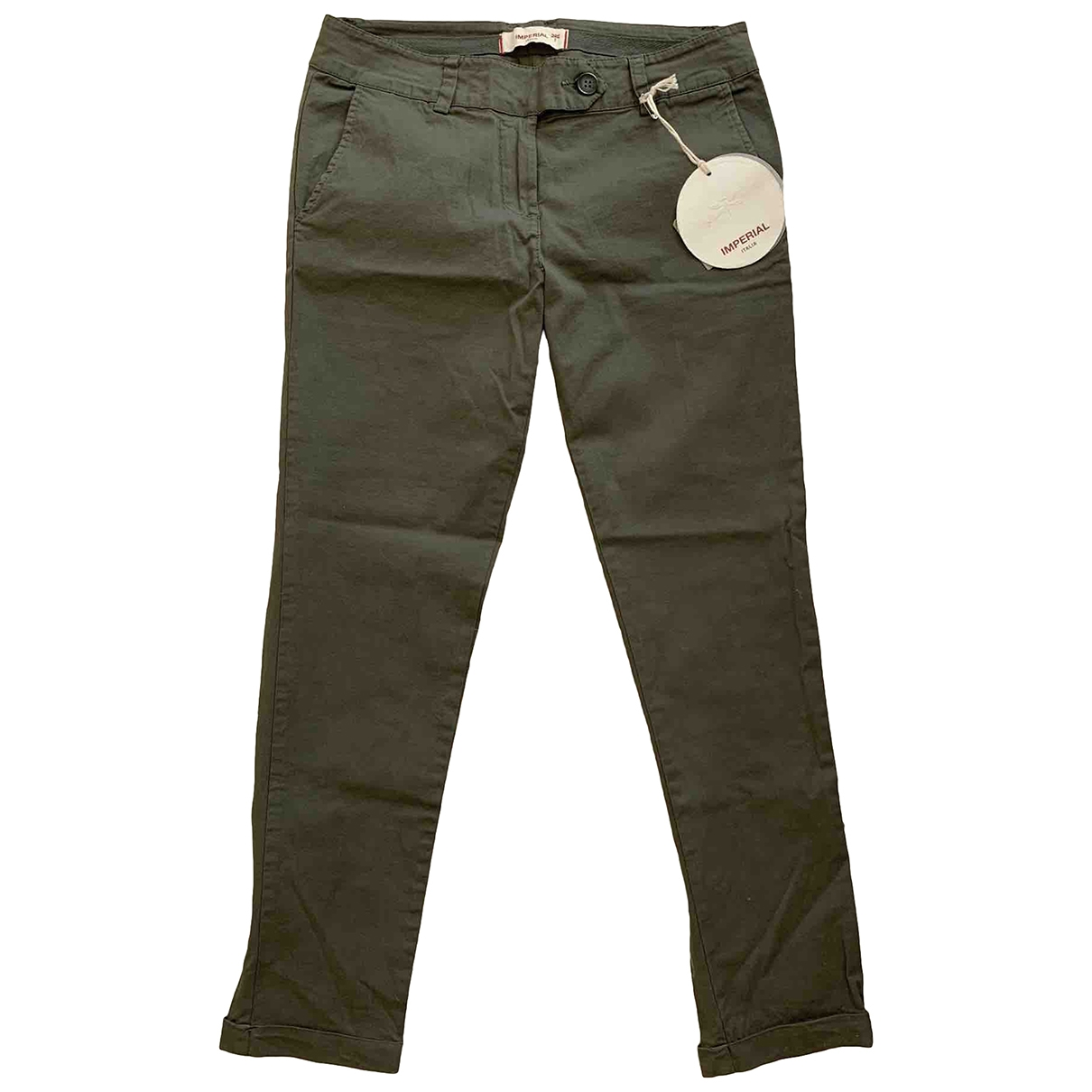 Impérial \N Cotton Trousers for Women XS International