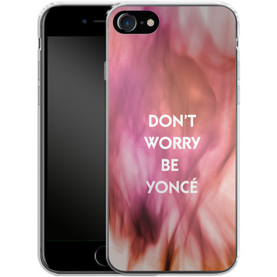 Apple iPhone 7 Silikon Handyhuelle - Dont Worry Be Yonce von Statements
