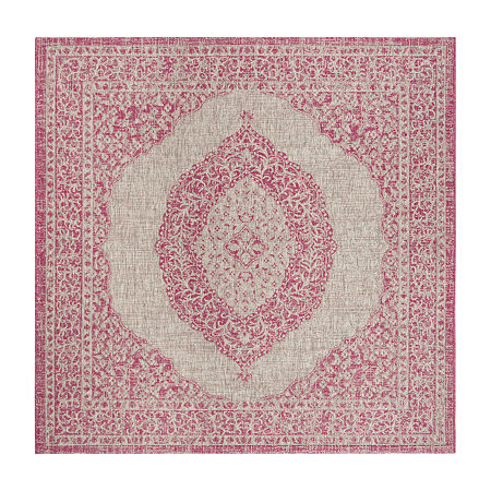 Safavieh Courtyard Collection Adria Oriental Indoor/Outdoor Square Area Rug, One Size , Multiple Colors