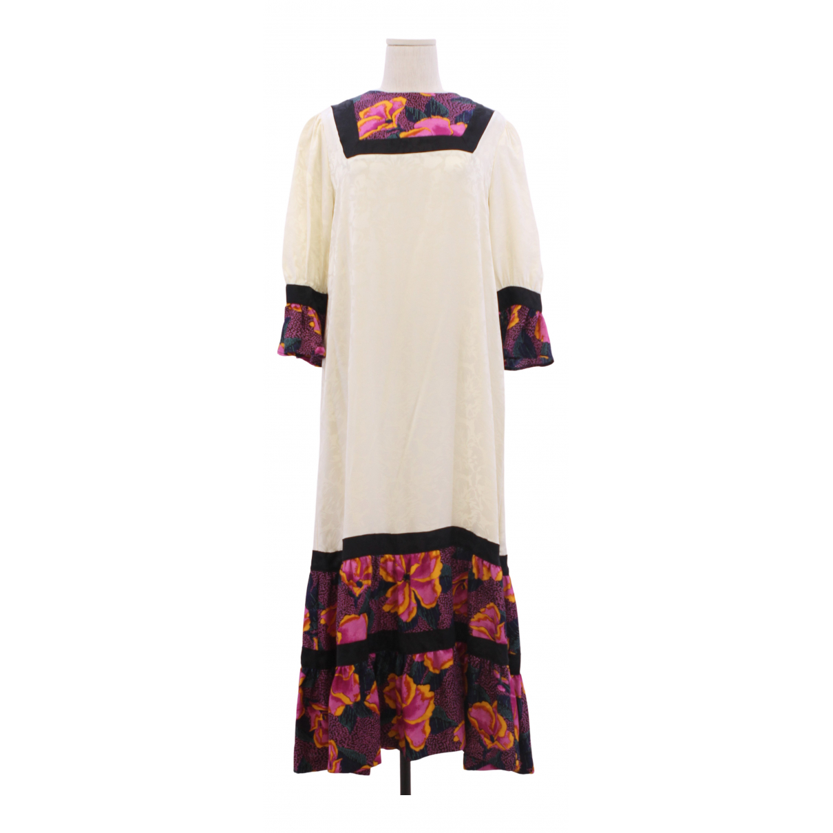 Warm - Robe   pour femme en coton - multicolore