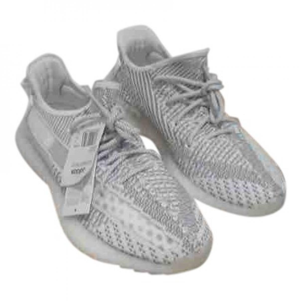 Yeezy X Adidas Boost 350 V2 Sneakers in  Weiss Leinen