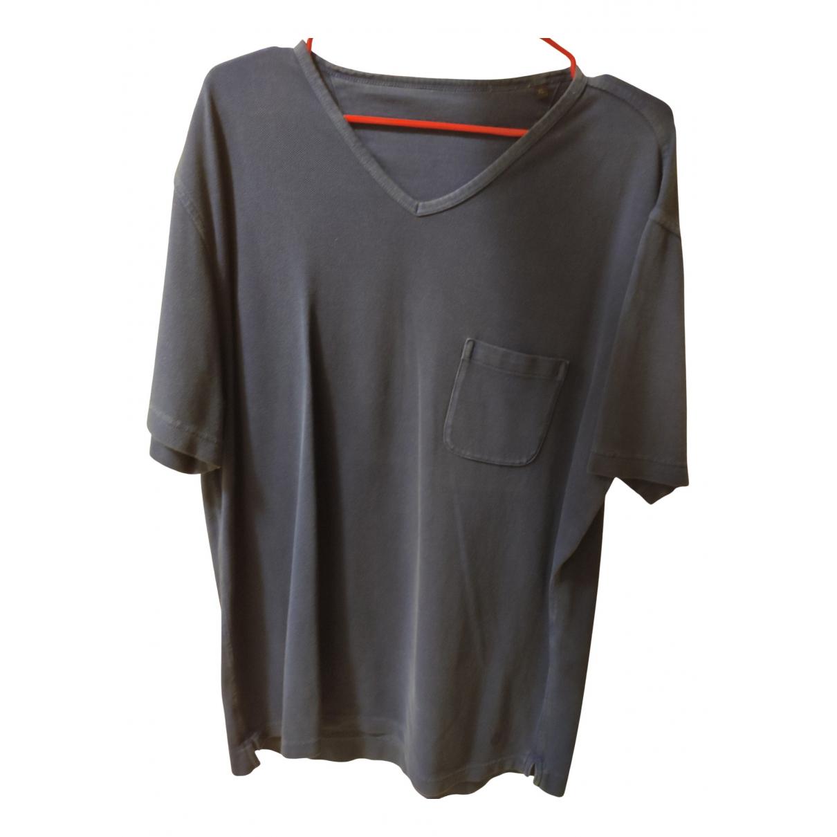 Z Zegna - Tee shirts   pour homme en coton - bleu