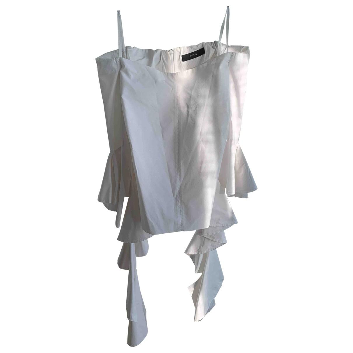 Ellery \N White Cotton  top for Women 8 UK