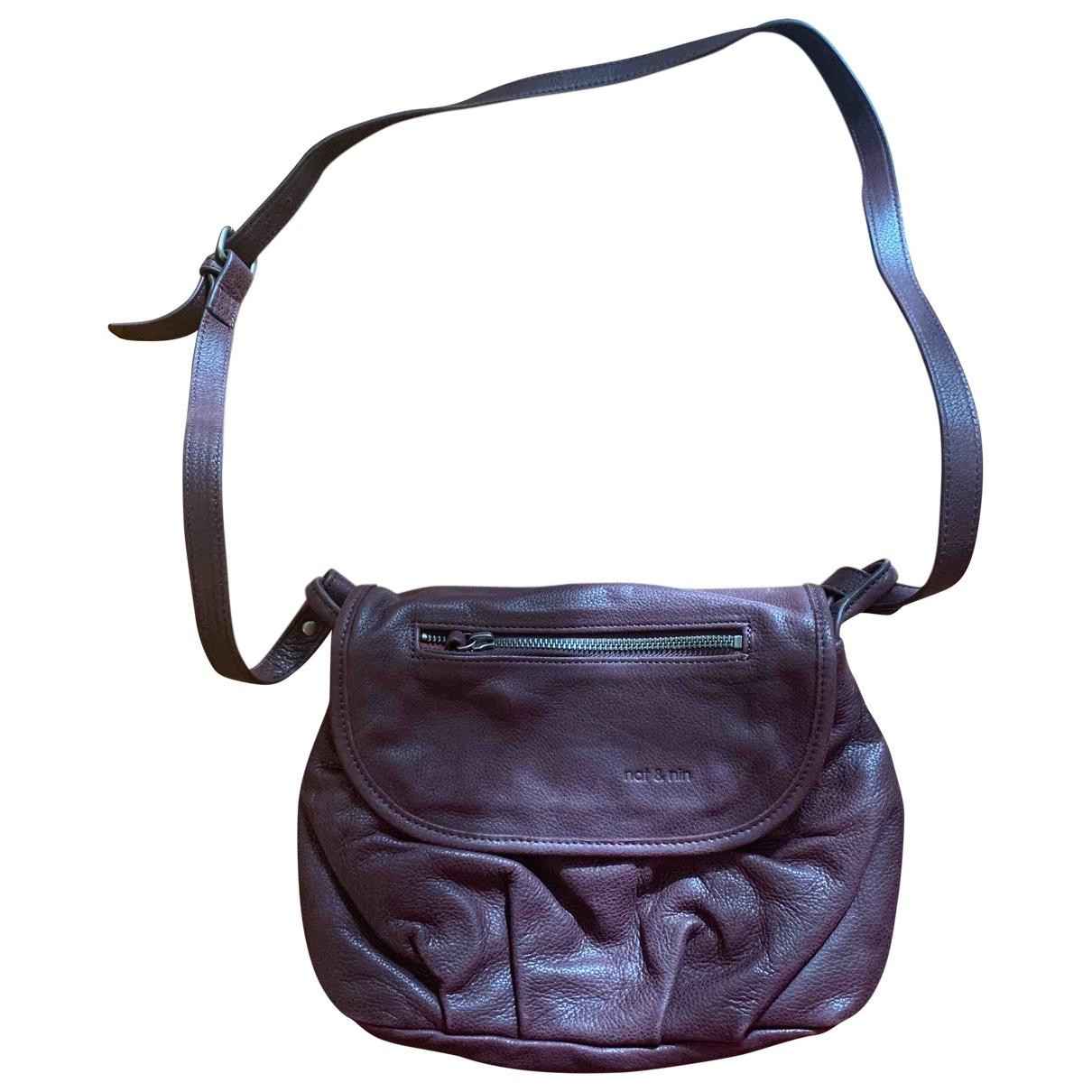 Nat & Nin \N Purple Leather handbag for Women \N