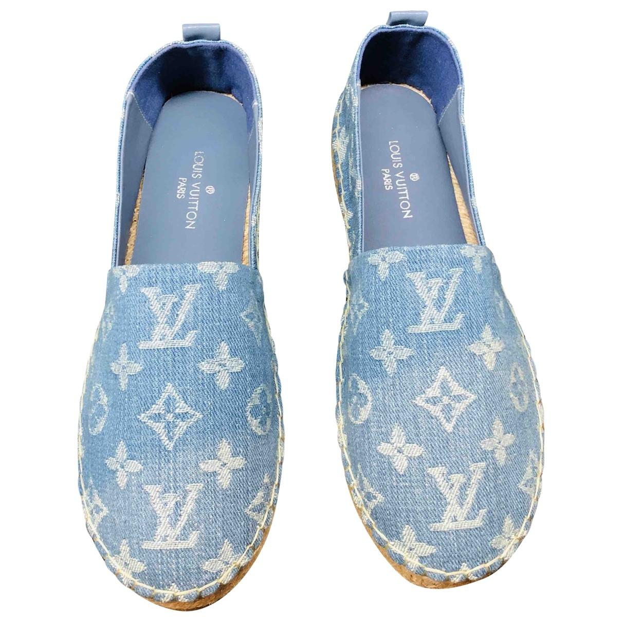 Louis Vuitton - Espadrilles   pour femme en denim - bleu