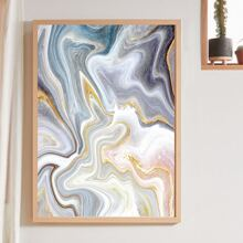 Marble Pattern Wall Painting Without Frame