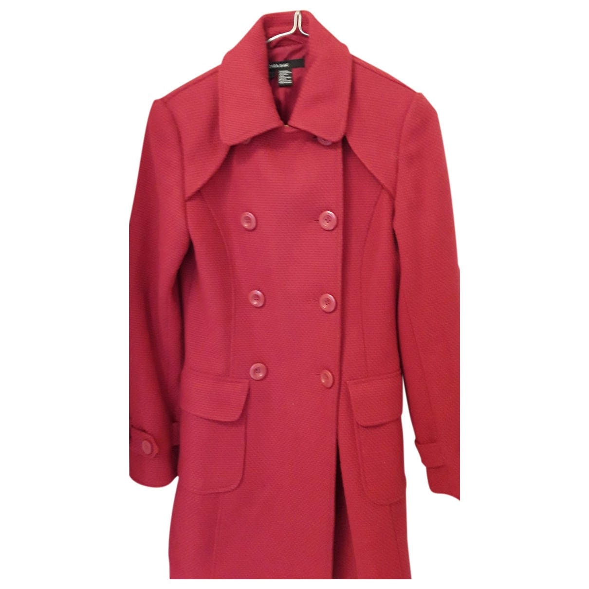 Autre Marque N Red Wool coat for Women 34 FR