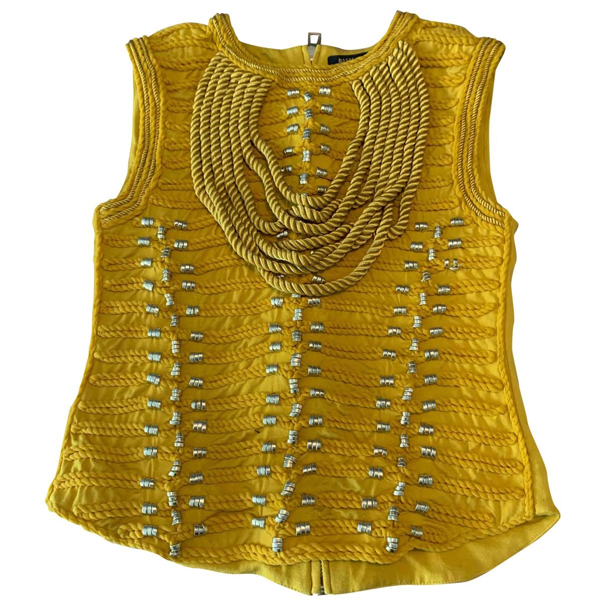 Balmain For H&m \N Yellow  top for Women 34 FR