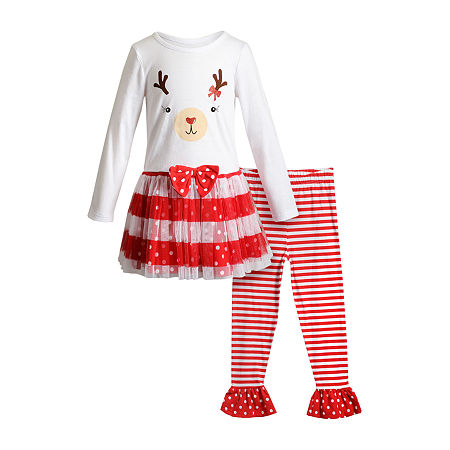 Youngland Toddler Girls 2-pc. Dress Set, 3t , Red