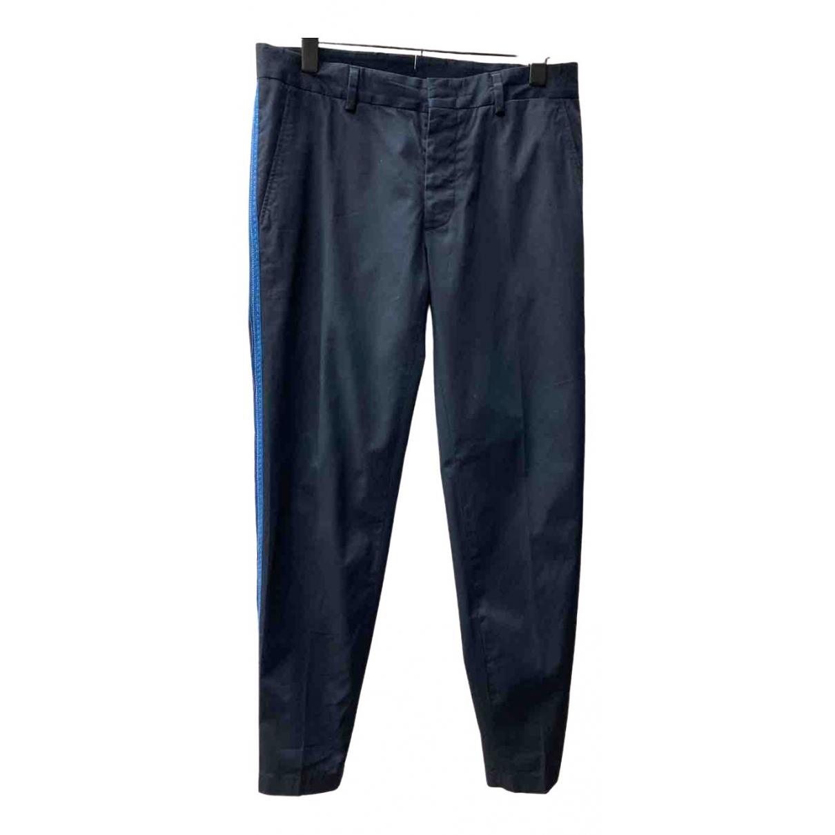 Lanvin \N Blue Cotton Trousers for Men 46 IT