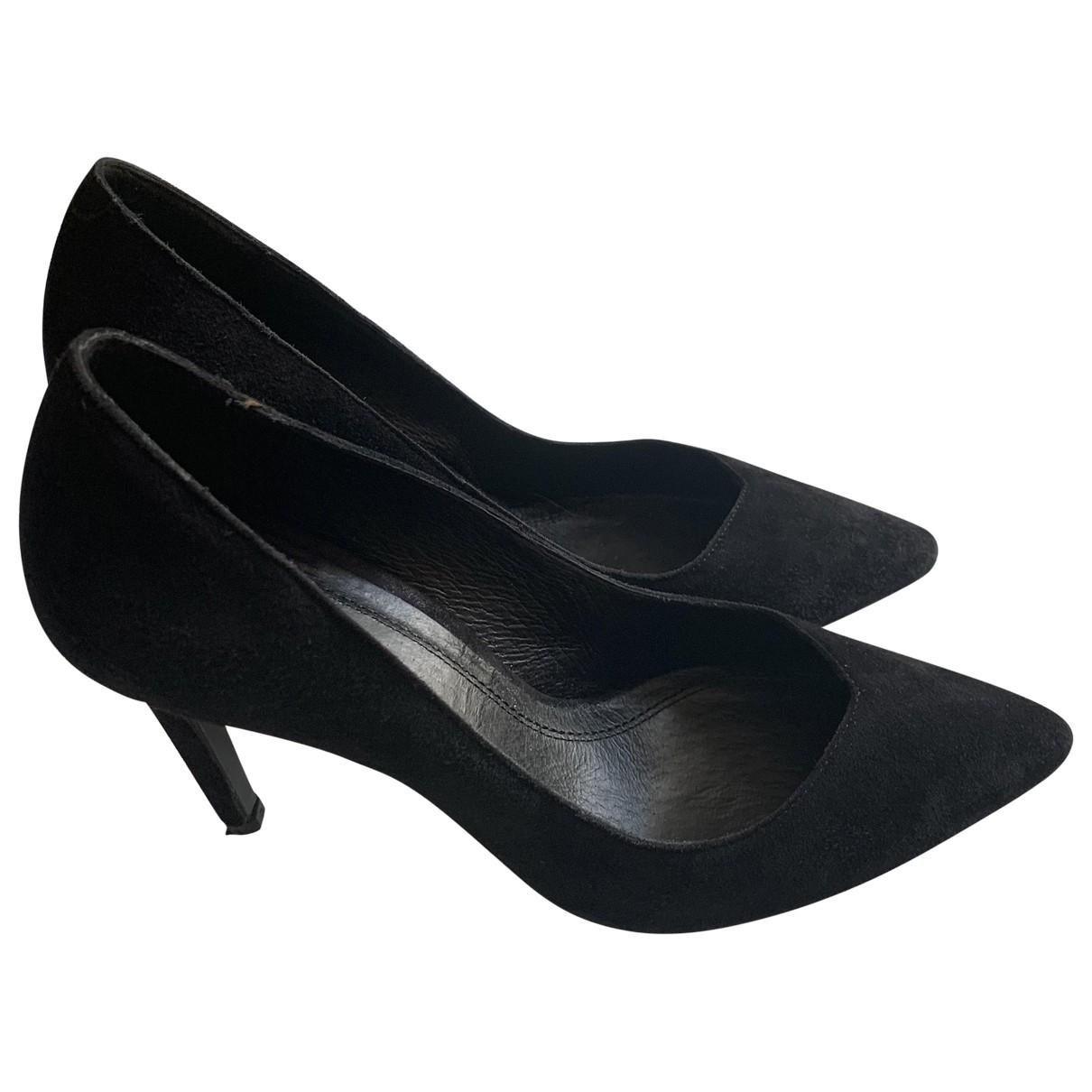Maje - Escarpins   pour femme en suede - noir
