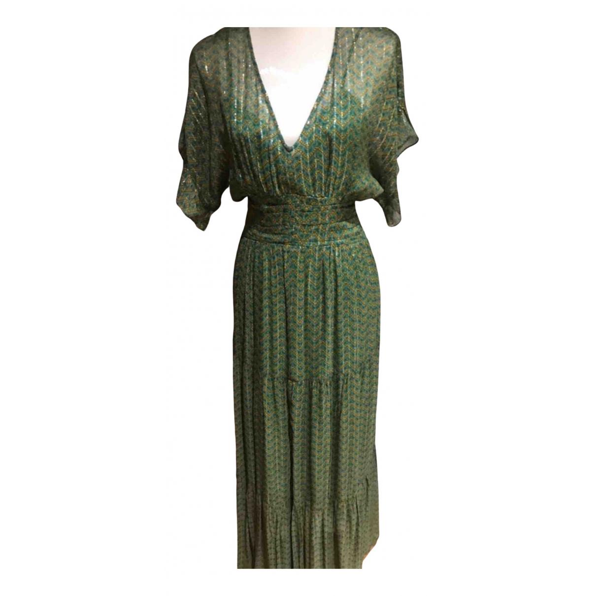Ba&sh \N Green Wool dress for Women 36 FR