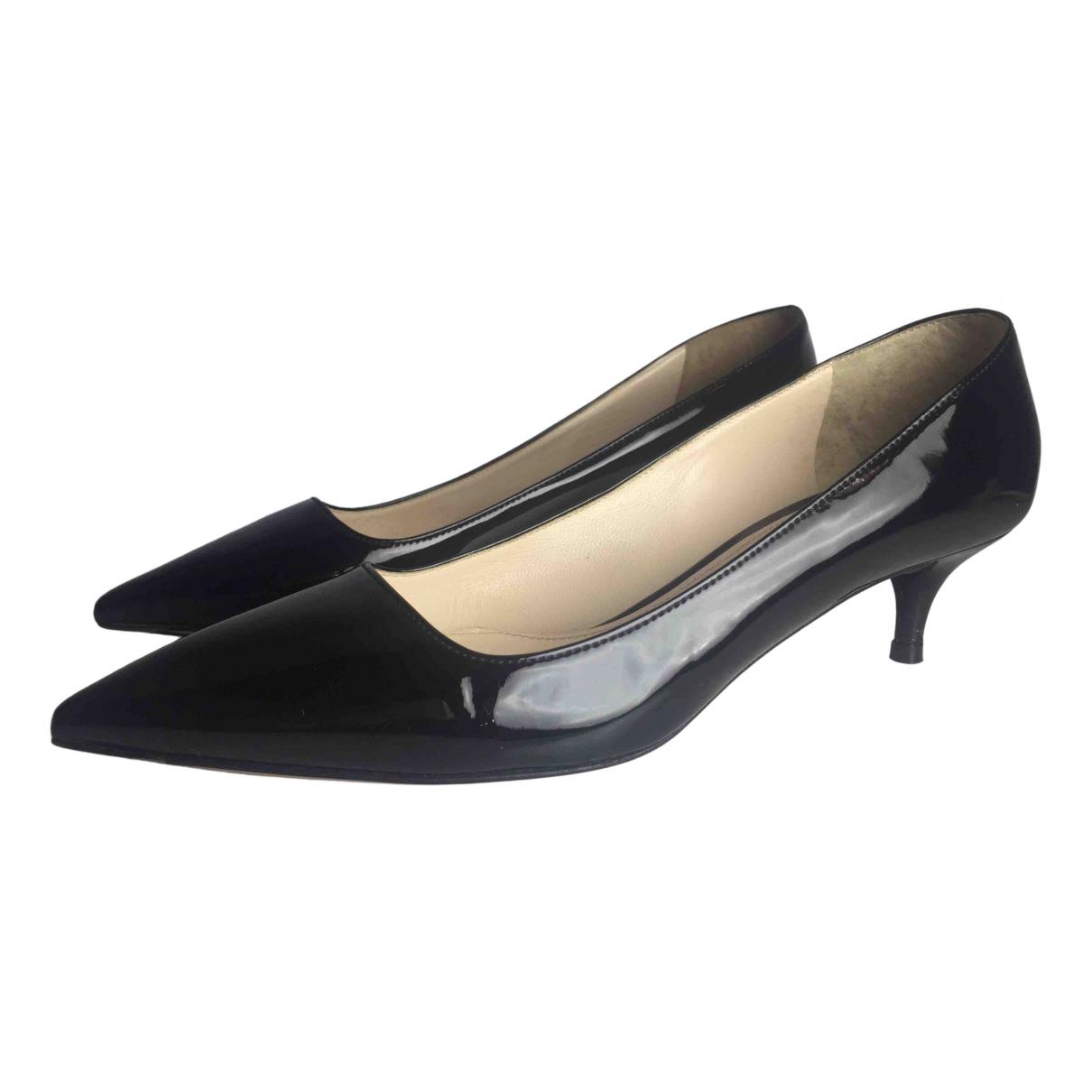 Prada Mary Jane Black Patent leather Heels for Women 37 EU