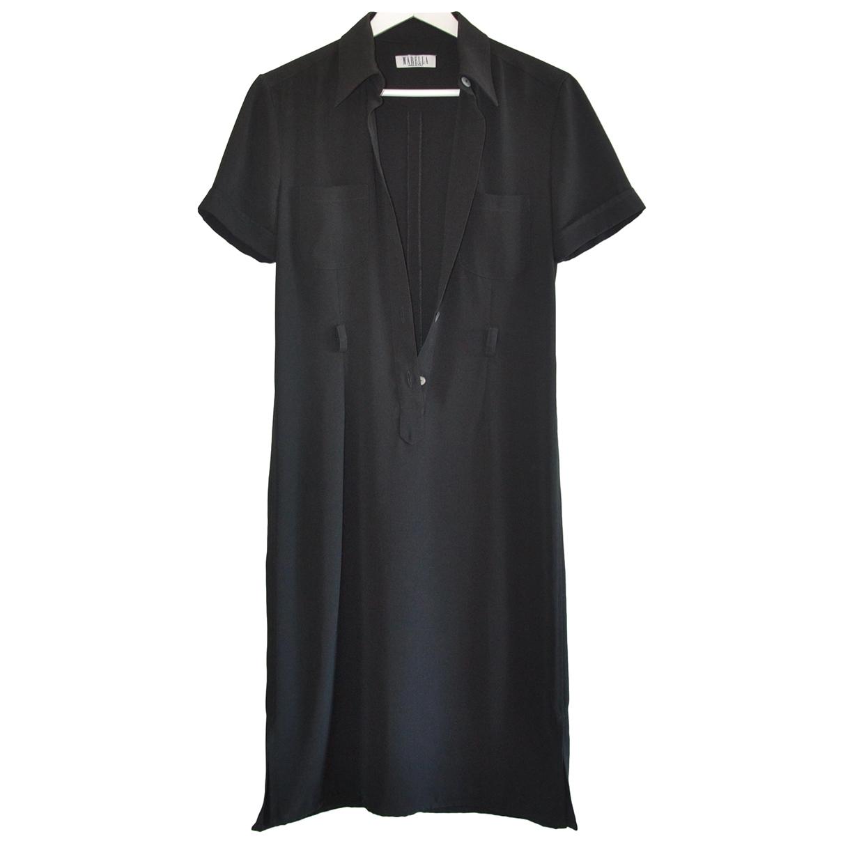 Marella \N Kleid in  Schwarz Baumwolle