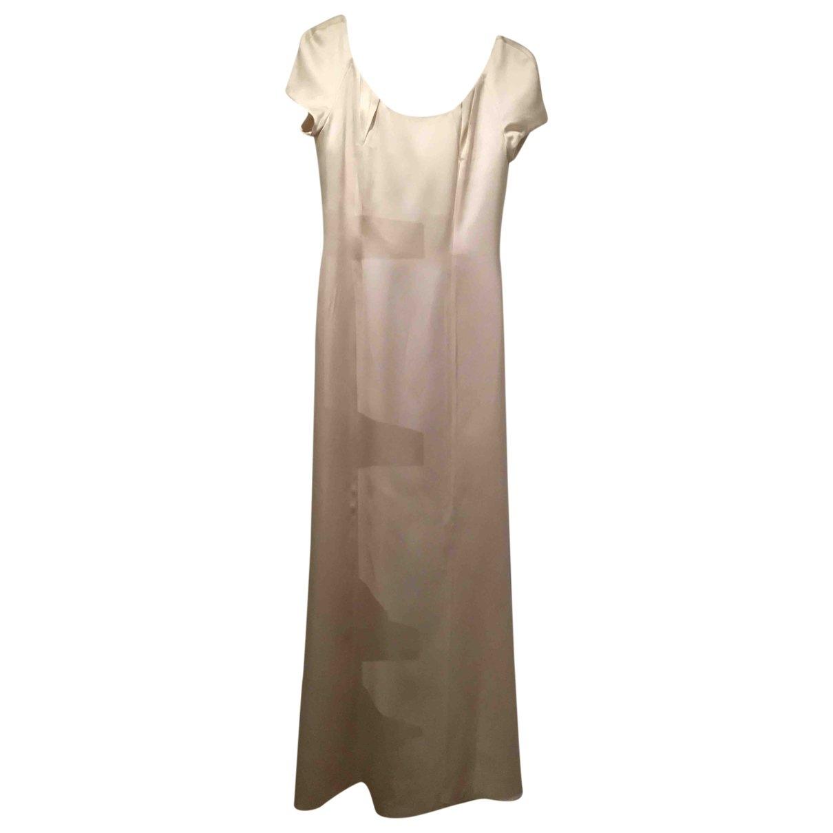 Giorgio Armani \N Kleid in  Weiss Seide