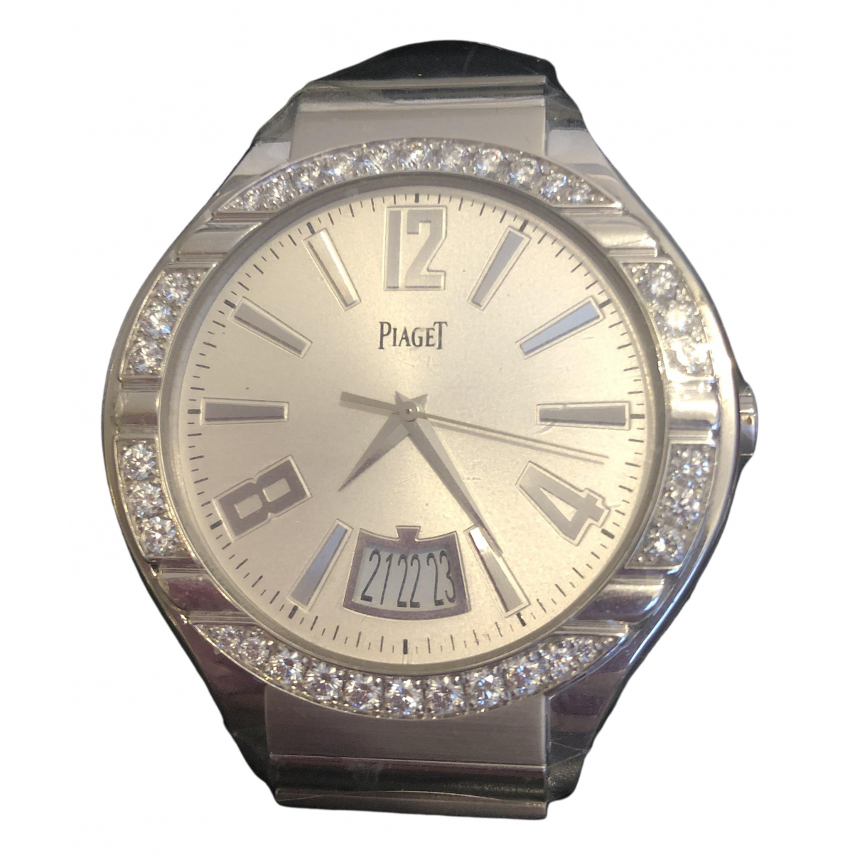 Piaget - Montre   pour homme en or blanc - argente