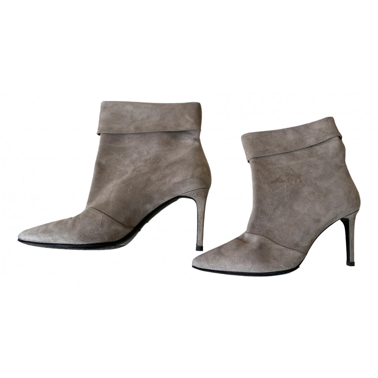 Saint Laurent \N Beige Suede Ankle boots for Women 39 EU