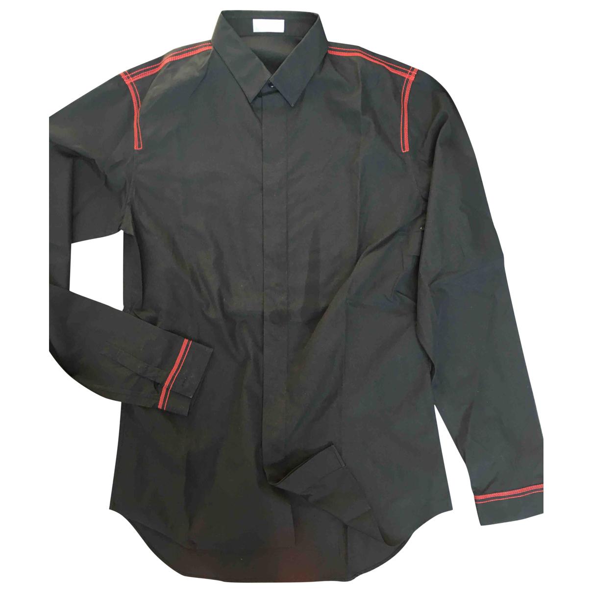 Dior Homme \N Black Cotton Shirts for Men M International