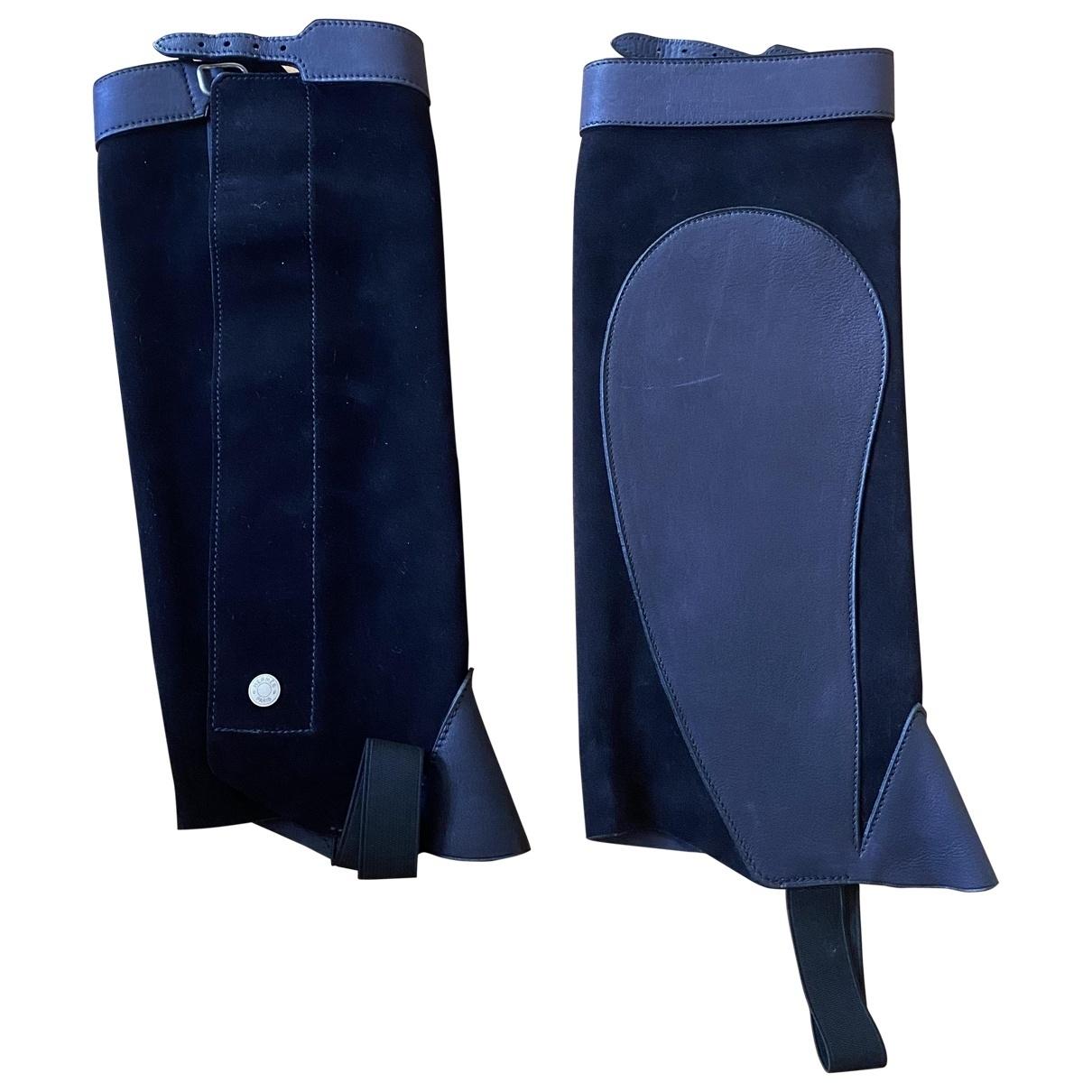 Hermès \N Black Leather Boots for Women \N