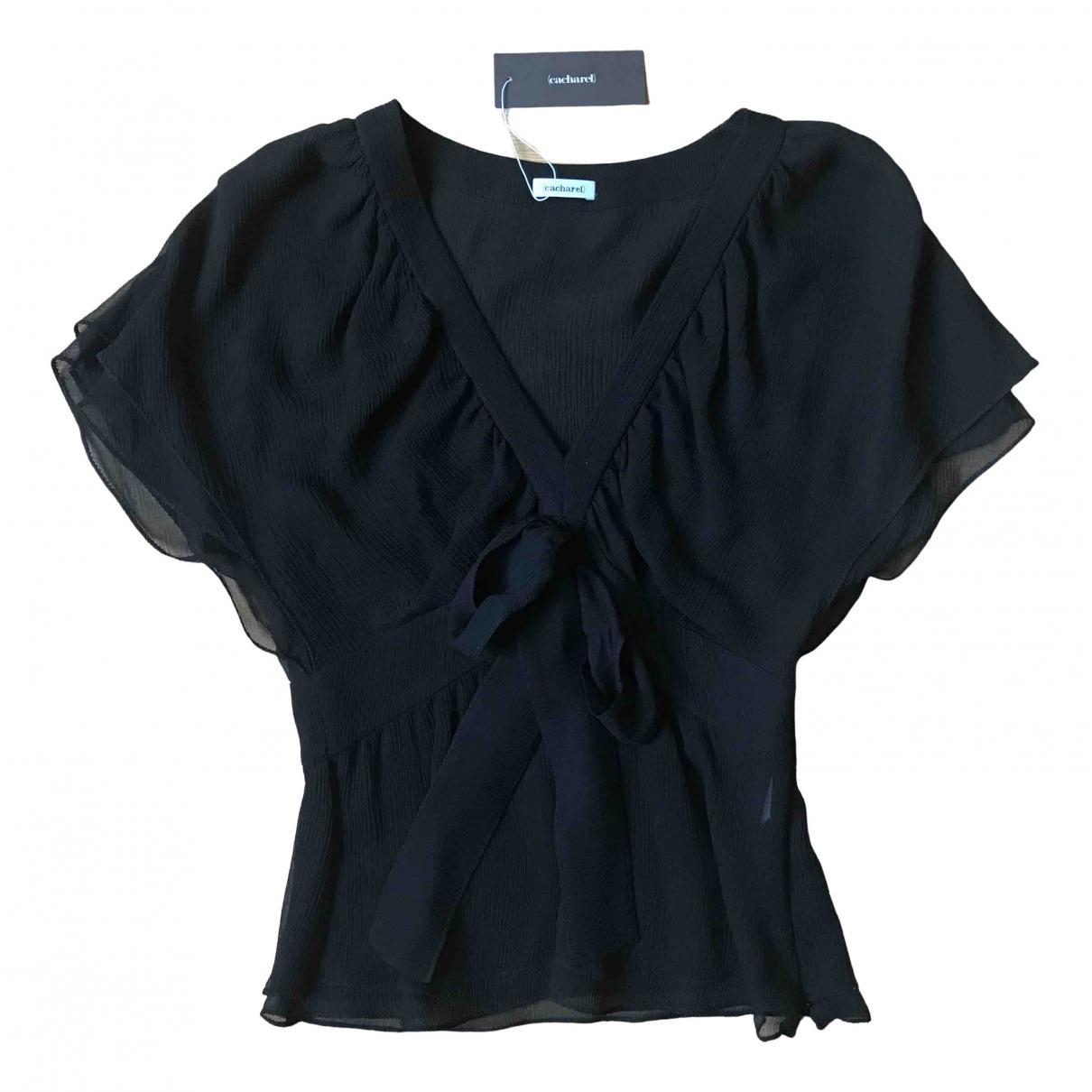 Cacharel - Top   pour femme en soie - noir