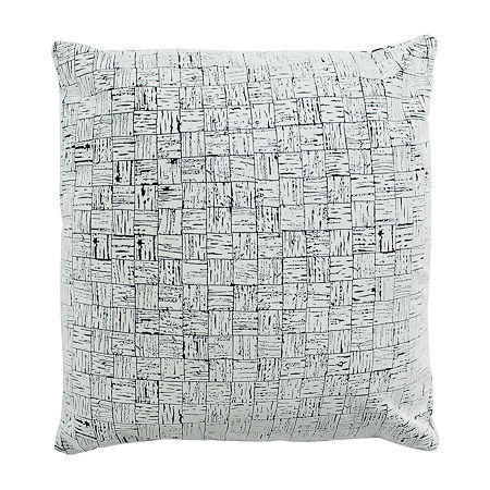 Safavieh Halina White Black Square Throw Pillow, One Size , White