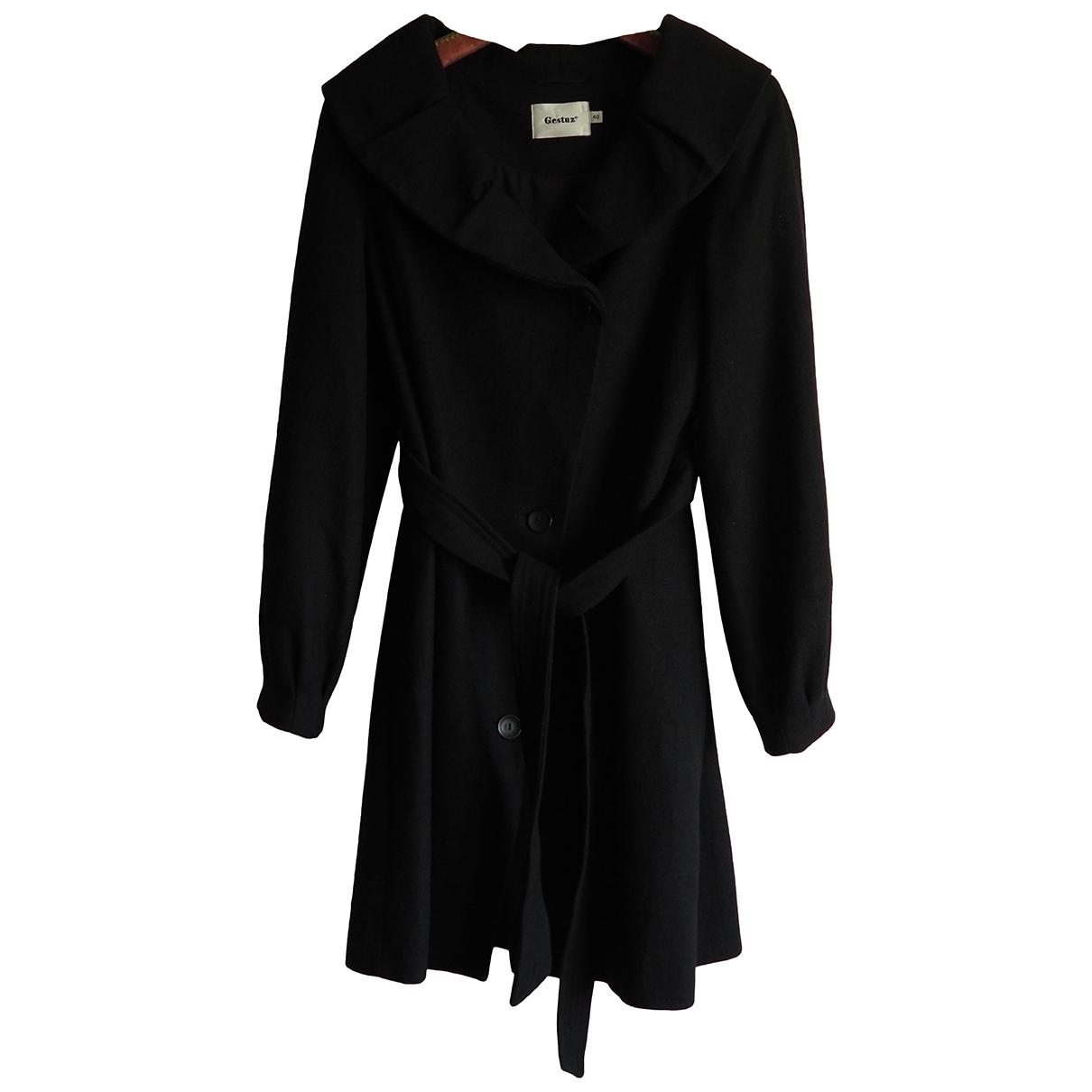 Gestuz - Manteau   pour femme en laine - noir