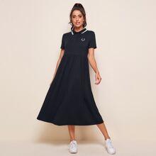 Polo Kleid mit Stickereien Detail