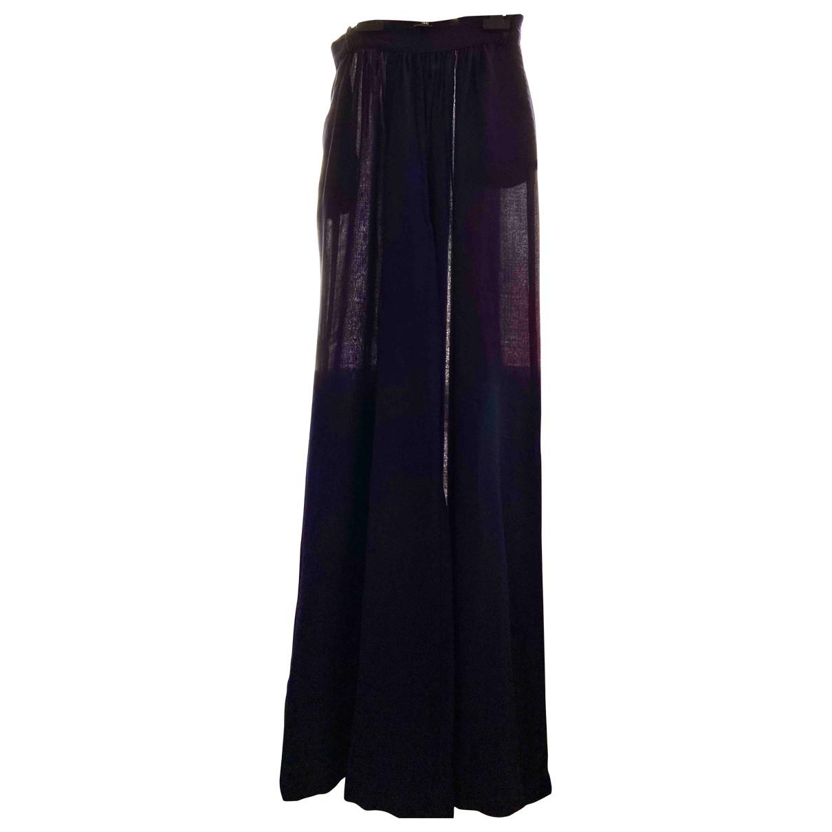 Elisabetta Franchi \N Blue Cotton Trousers for Women 40 IT