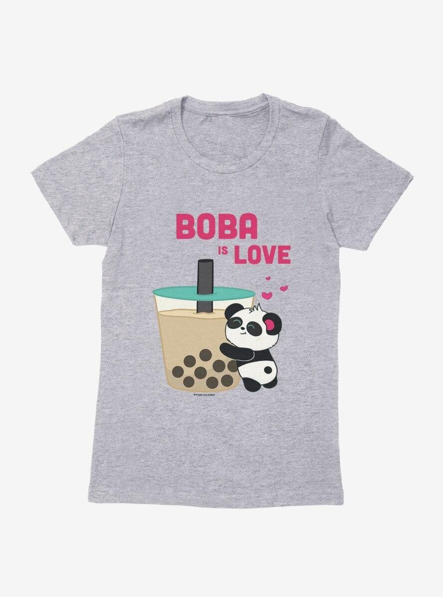 BL Creators: Hungry Rabbit Studio Pandi The Panda Boba Is Love Womens T-Shirt