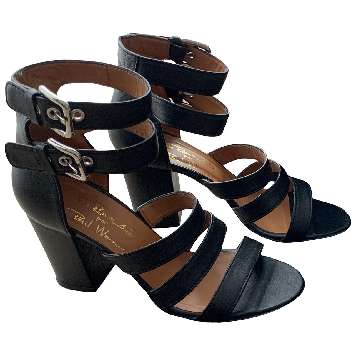 Via Roma Xv - Sandales   pour femme en cuir - noir