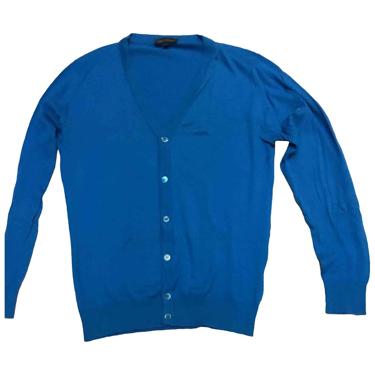 John Smedley \N Blue Cotton Knitwear & Sweatshirts for Men S International
