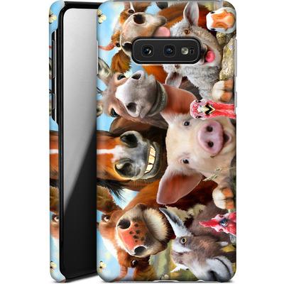 Samsung Galaxy S10e Smartphone Huelle - Farm Selfie von Howard Robinson