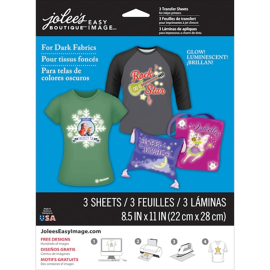 Jolee's Boutique® Easy Image® Transfer Paper, Glow In The Dark For Dark Fabrics   Michaels®