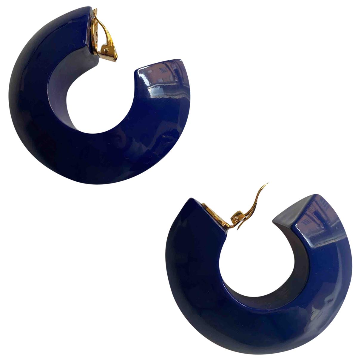 Marni \N OhrRing in  Blau Metall