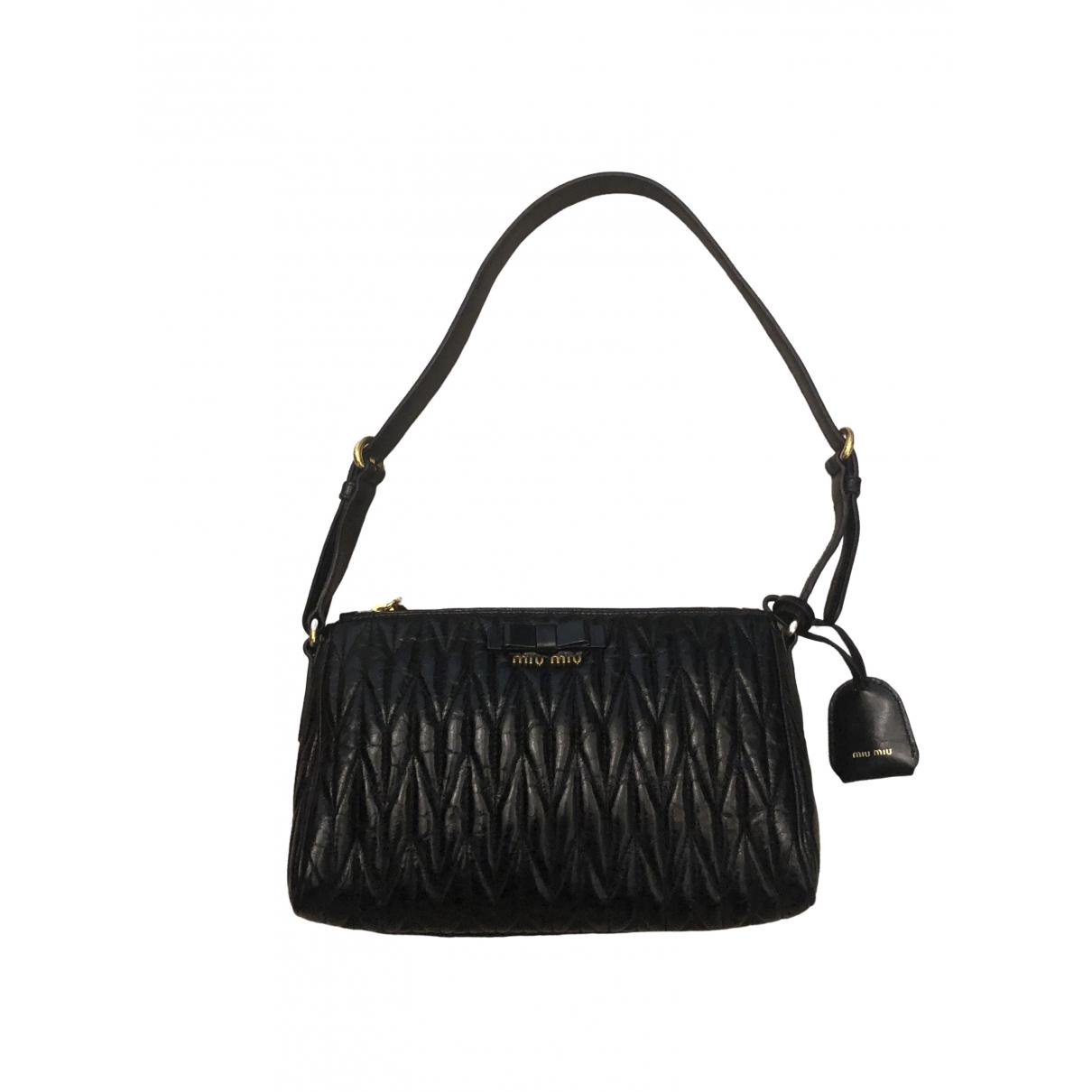 Miu Miu Matelassé Black Leather handbag for Women \N