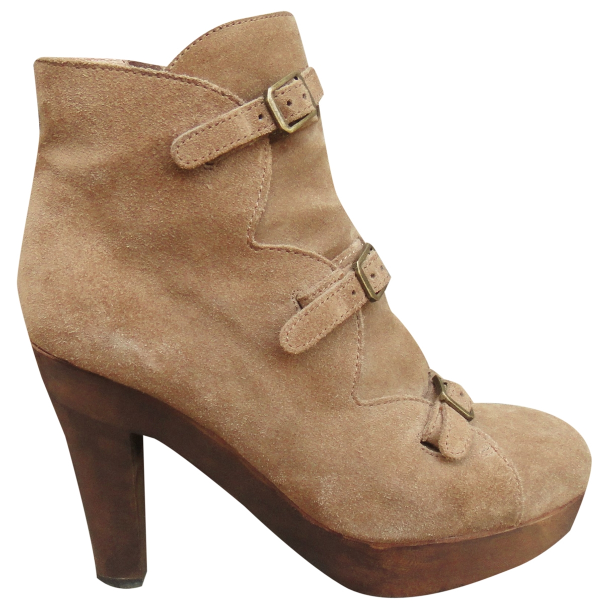 See By Chloe - Boots   pour femme en suede - beige