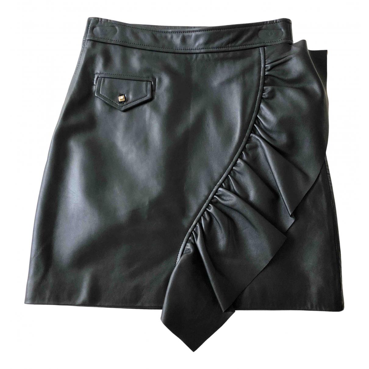 Sandro Fall Winter 2019 Black Leather skirt for Women 1 0-5