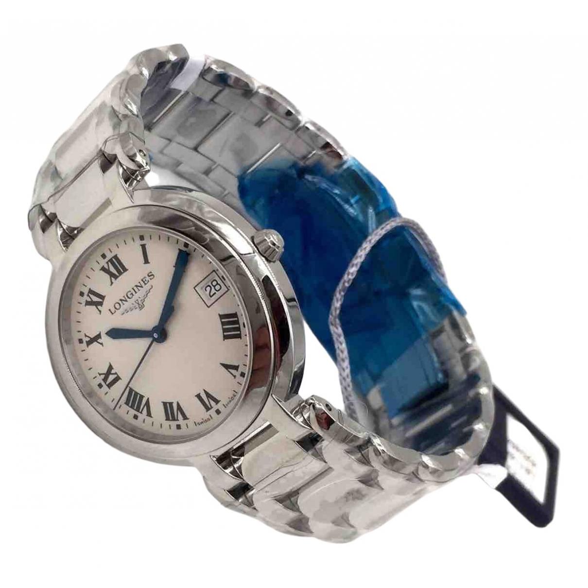 Longines \N White Steel watch for Men \N