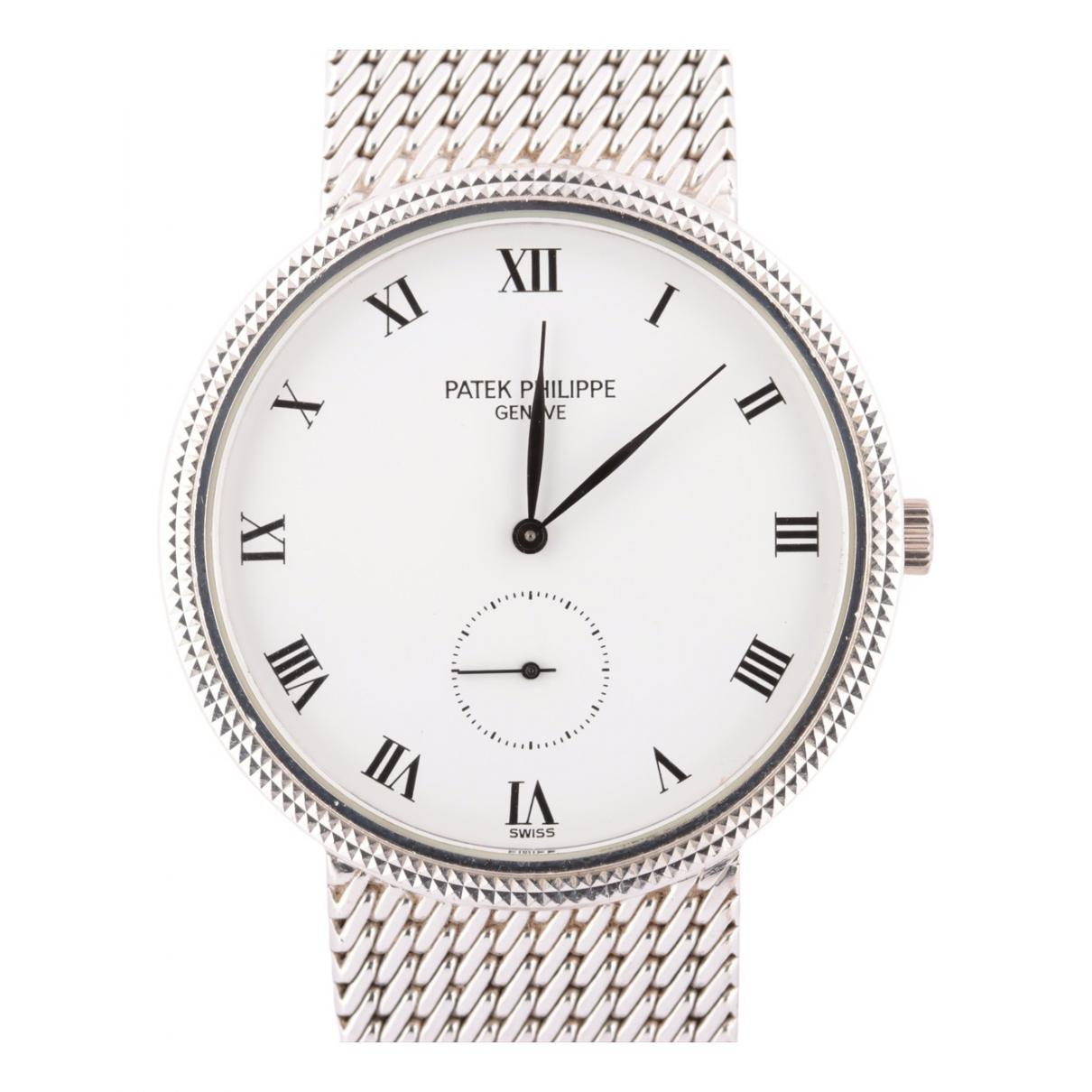 Patek Philippe Calatrava Silver White gold watch for Women N