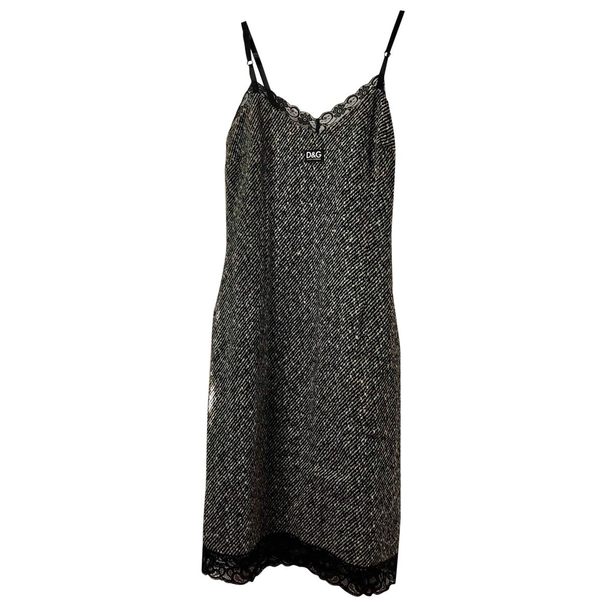 D&g \N Grey Wool dress for Women 40 IT