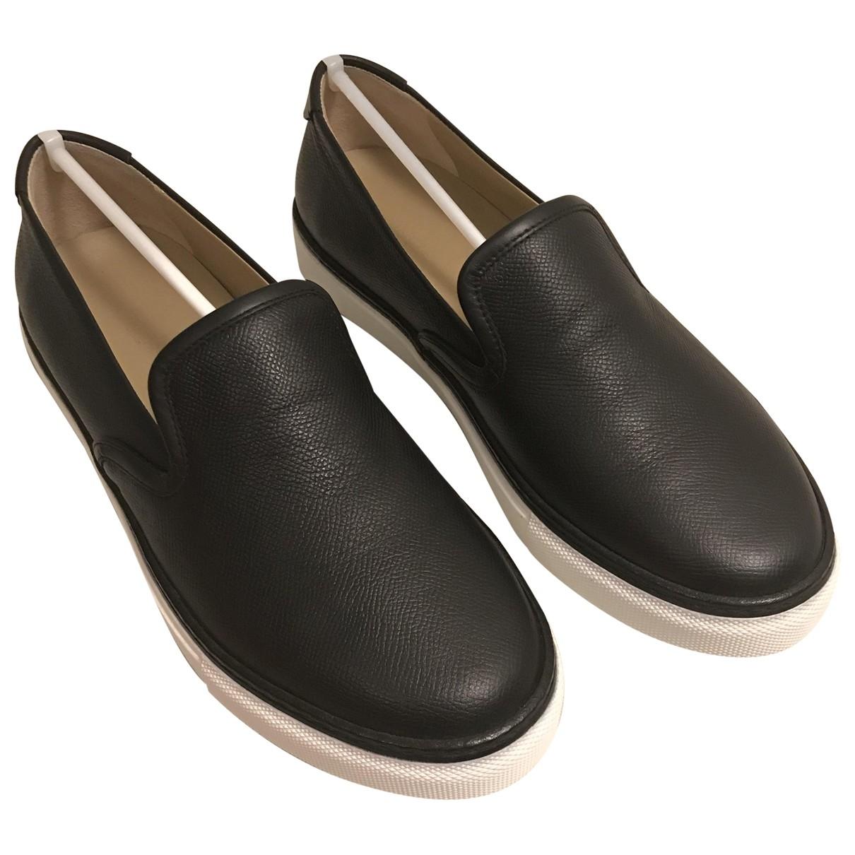 Hermès \N Black Leather Flats for Men 40 EU