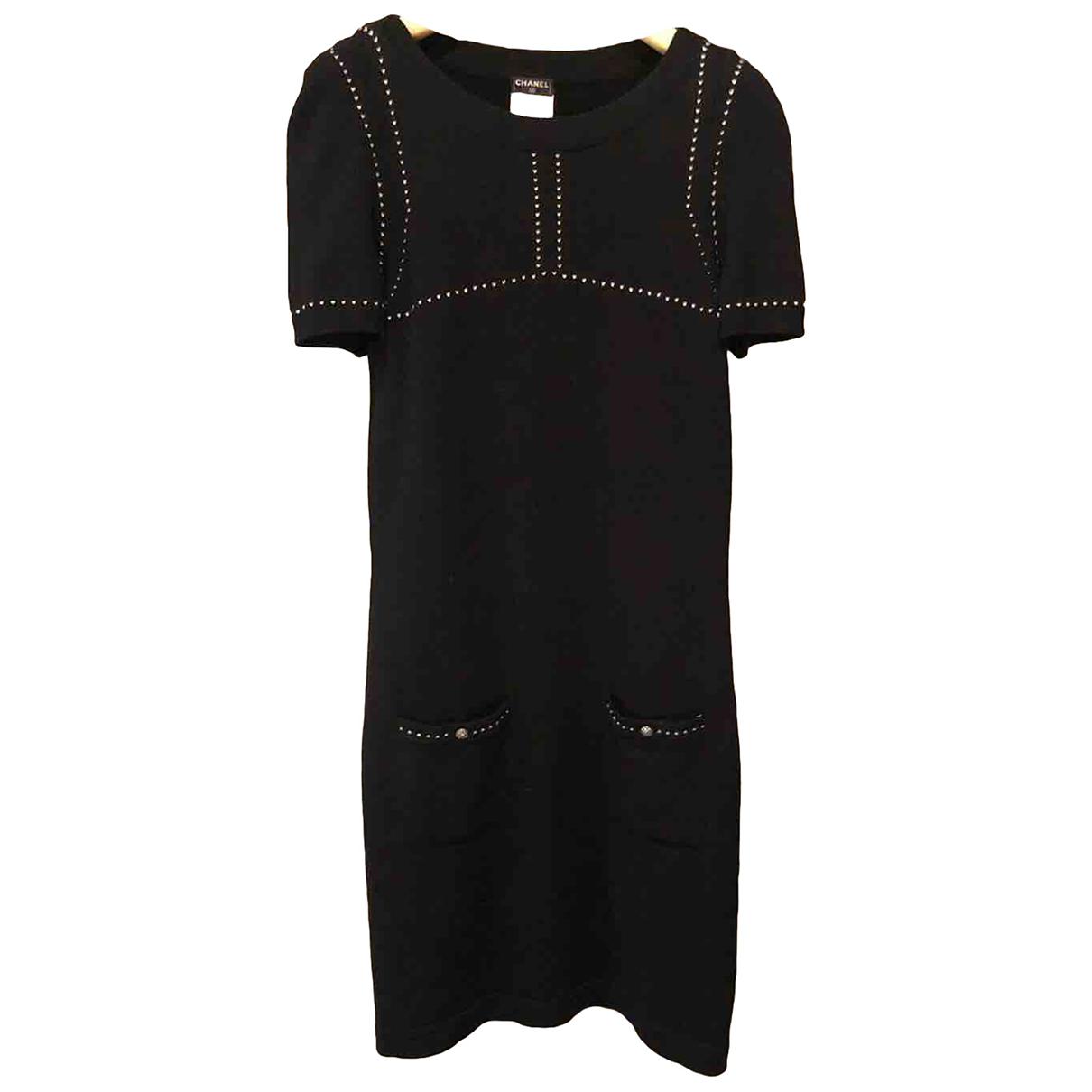 Chanel N Black Cashmere dress for Women 38 FR