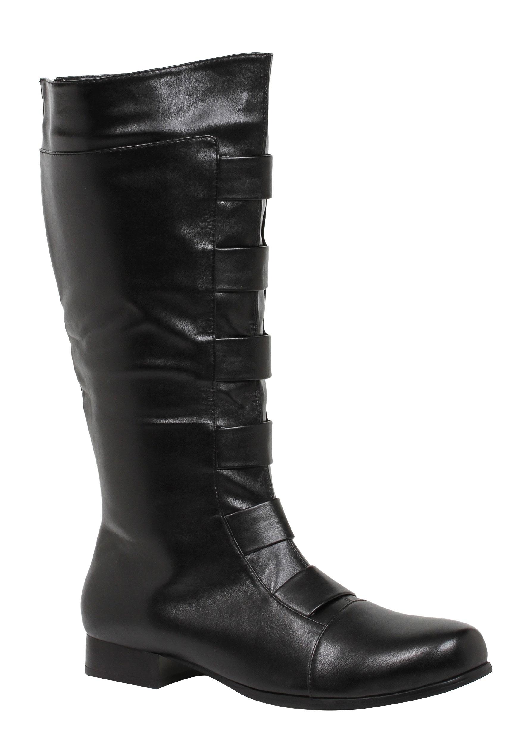 Adult Black Superhero Costume Boots