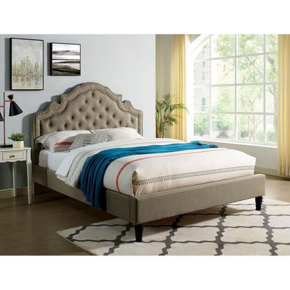 CM7537GY-CK-BED Aubree Cal.King Bed  in