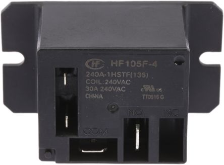 Hongfa Europe GMBH , 240V ac Coil Non-Latching Relay SPNO, 30A Switching Current Flange Mount Single Pole