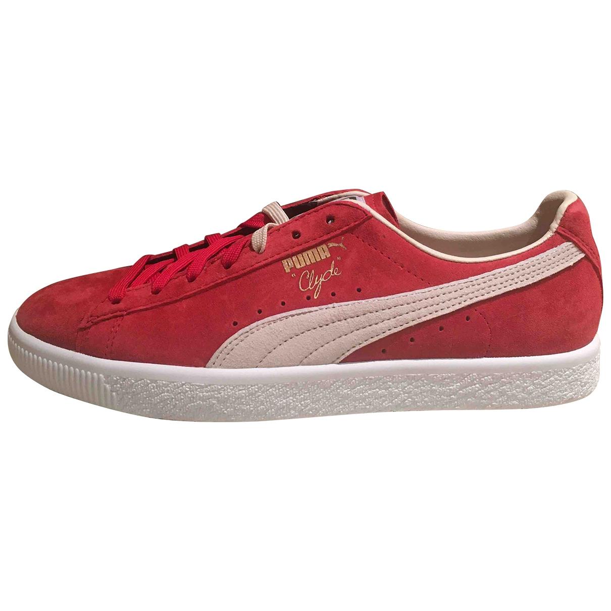 Puma - Baskets   pour homme en cuir - rouge