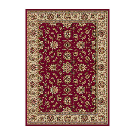 Como Kashan Traditional Oriental Area Rug, One Size , Red