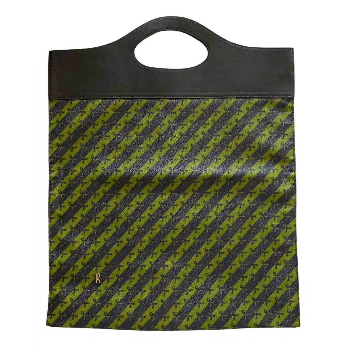 Non Signe / Unsigned \N Handtasche in  Gruen Kunststoff