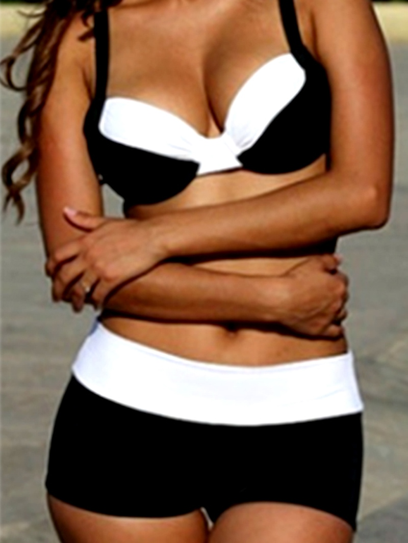 Ericdress Casual Color Block Tankini Set (Plus Size Available)